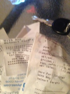 Faded Receipts